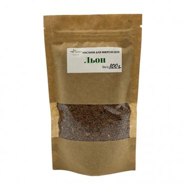 Насіння TopGreen для мікрозелені Льон, 100 г.
